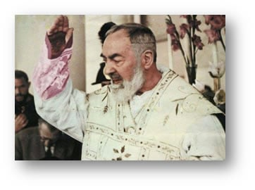 Padre Pio at Mass